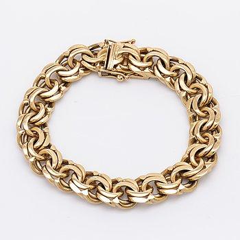 Bracelet 18K gold, 59,8 g, approx 19 x 1 cm.