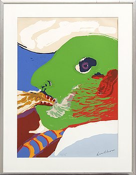 Bengt Lindström, lithograph in colours signed and numbered 73/135.