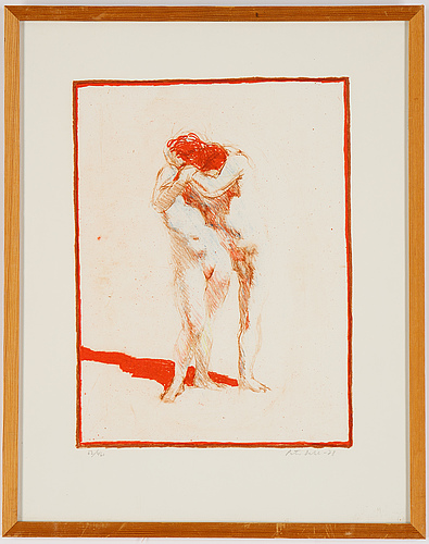 Peter dahl, lithograph in colours, 1978, signed 62/460.