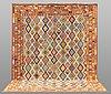 A carpet, kilim, ca 388 x 309 cm.
