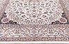 A carpet, nain part silk, sk 9 laa,  427 x 312 cm.