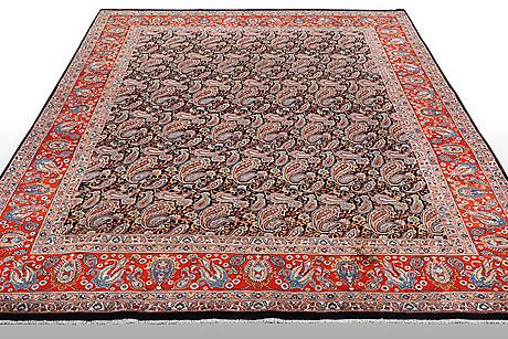 A carpet, kashmar 393 x 299 cm.