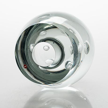 Timo sarpaneva, glasskulptur, signerad timo sarpaneva 94/1991.
