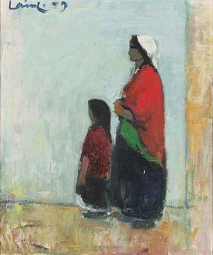 Olavi laine, oil on canvas, signed and dated -59.