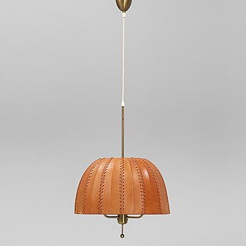 Hans-Agne Jakobsson, a model 'Carolin/T-549/3' brass ceiling light, Markaryd.