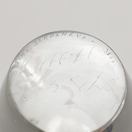 Timo sarpaneva, vase 'orkidé', iittala, signed.