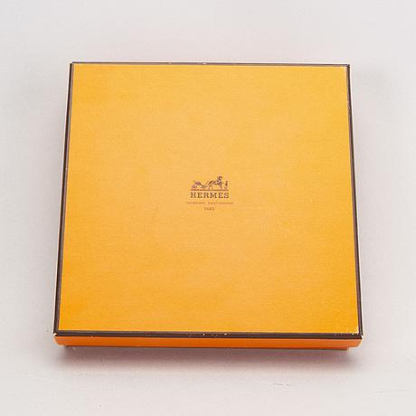 Hermès a set of four porcelain ashtrays later part of the 20th century.