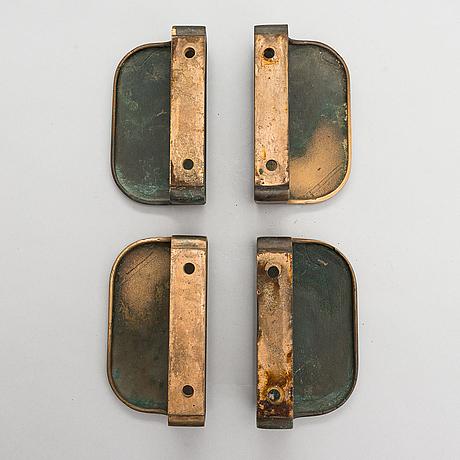 Two pairs of brass door handles from 1960s / 70s.