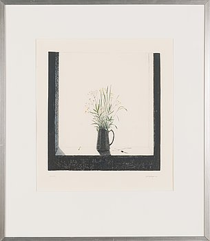 Pentti Kaskipuro, drypoint and watercolour, signed and dated 1978, marked tait. vedos (artist's proof).