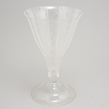 A swedish glass cup, 1920s.