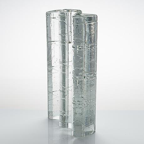 Timo sarpaneva, a glass sculpture of the archipelago series, signed timo sarpaneva.