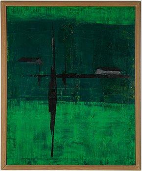 Arne Olsson, oil on panel, signerad.
