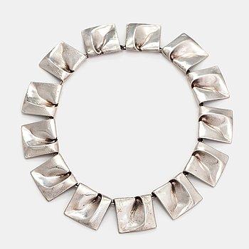 "Björn Weckström, ""Planetoid valleys"", a sterling silver necklace. Lapponia 1969."