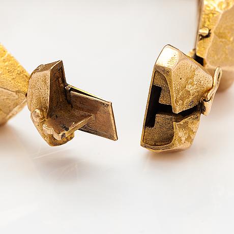 "Björn weckström, ""lapp stones"", a 14k gold bracelet. lapponia 1966."