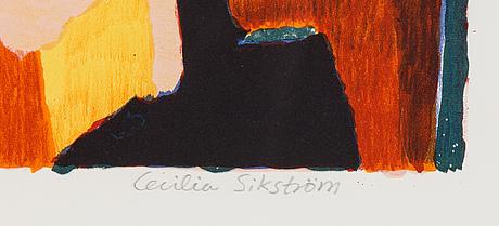 Cecilia sikström, lithograph in colours, signed 115/190.