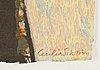 Cecilia sikström, lithograph in colours, signed 17/180.