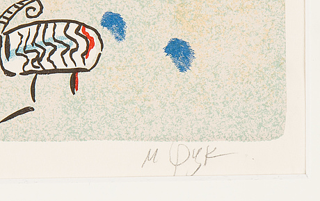 Madeleine pyk, lithograph in colours, signed hc 14/30.