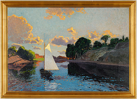 Waldemar nyström, oil on canvas, signed and dated 1923.