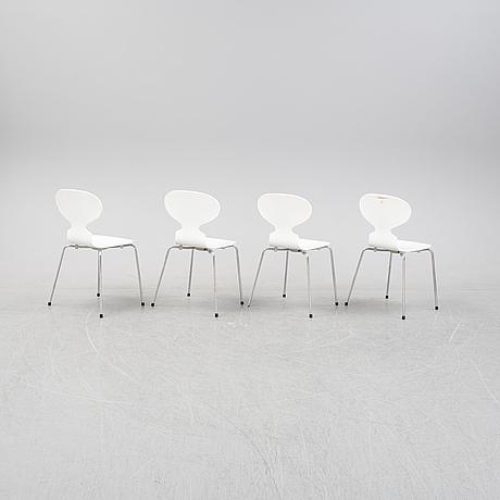 "Arne jacobsen, stolar, 4 st, ""myran"", fritz hansen, 2000-2003."