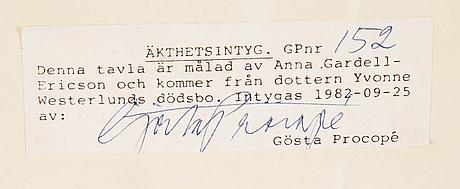 Anna gardell-ericson, watercolour, signed.