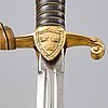 A swedish artillery officer's sword 1889 pattern, with scabbard.