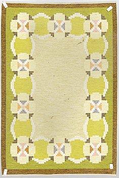 Ingegerd Silow, carpet, flat weave, 295 x 197 cm, signed IS.