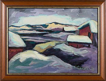 Paavo Sarelli, oil on board, signed and dated -93.