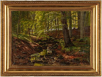 Christian Zacho, oil on canvas, signed and dated 1911.