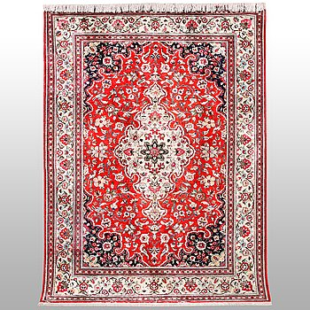 A rug, silk Qum, ca 203 x 138 cm.