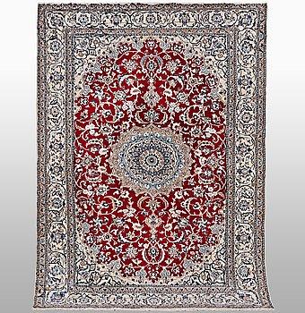 A carpet, Nain, part silk, ca 242 x 154 cm.