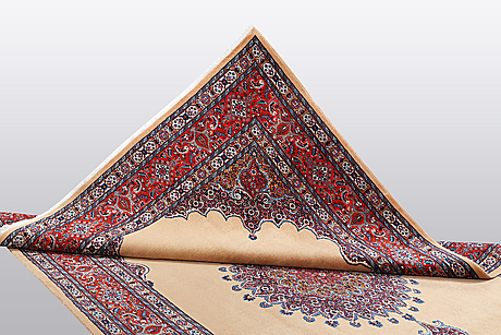 A carpet, moud, ca 327 x 215 cm.