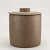 Signe persson-melin, jar with lid, 1970s.