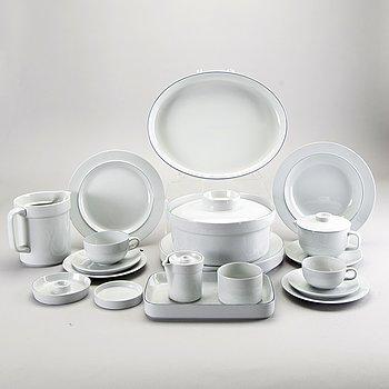 "Grethe Meyer, ""Blue Edge"", tableware, 100 dlr, Royal Copenhagen and Aluminia."