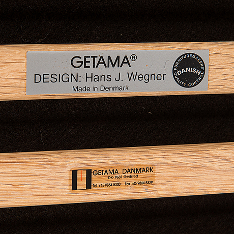 Hans j wegner, a 2004 'ge-290 a' armchair and ottoman for getama.