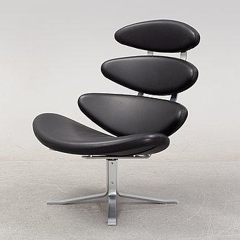 Poul Volther, a 'Corona EJ 5' armchair, Erik Jørgensen, Denmark.