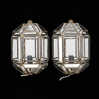 A pair of wall lights, 1970s.