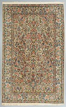 A carpet, Old Kerman, ca 242 x 155 cm.