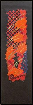 William Tillyer, silk screen print signerat 76 47/100.