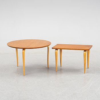 Bruno Mathsson, an 'Annika' coffee table and a side table from Firma Karl Mathsson.