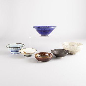 Carl Cunningham-Cole, a set of six stoneware bowls.