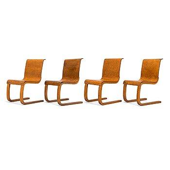Alvar Aalto, four 1930's '22' chairs for  O.Y. Huonekalu-ja Rakennustyötehdas A.B.