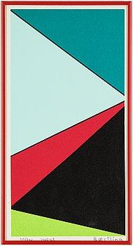 Olle Baertling, silkscreen in colours, 1965-68, signed 212/300.