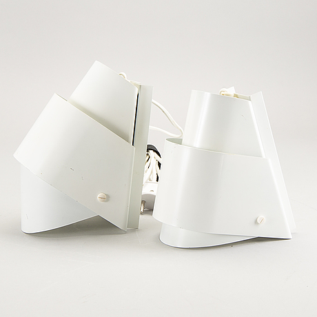 Hans-agne jakobsson, a pair of wall lamps later part of the 20th century.