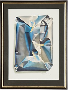 Yrjö Edelmann, lithograph in colours, 2001, signed 101/1500.