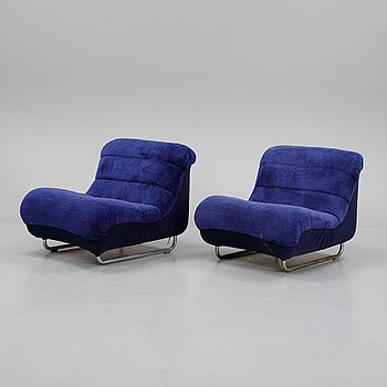 A pair of 'Olé' lounge chairs by Carl-Henrik Spak from Ulferts 1973.