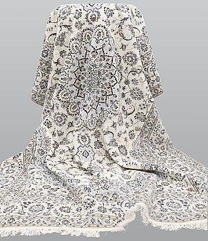 A carpet, Nain Part Silk, S.K 6LAA, 363 x 254 cm.