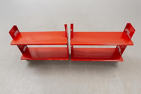 "Bokhyllor, 2 st, ""congresso"" lips vago italien, 1970-tal."