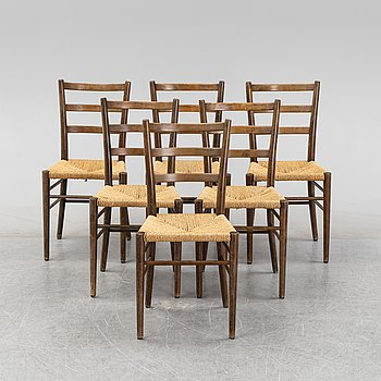 A set of six chairs, Gemla, Diö, 1930's-40's.