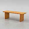 A pine bench or coffee table, 1970s.