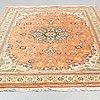 A carpet, old tabriz, part silk, ca 290 x 197 cm.